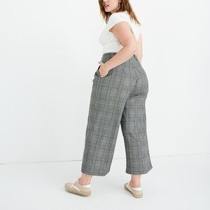 Madewell Pleated Wide Leg Pants In Plaid 16